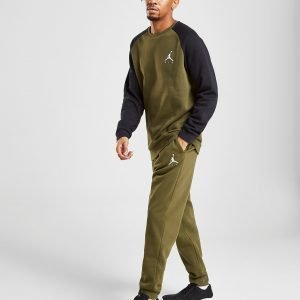 Jordan Fleece Verryttelyhousut Olive / White