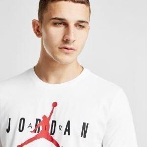 Jordan Jumpman Logo T-Paita Valkoinen