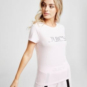 Juicy By Juicy Couture Embellished T-Shirt Vaaleanpunainen
