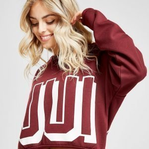 Juicy By Juicy Couture Oversized Crew Sweatshirt Burgundy / White