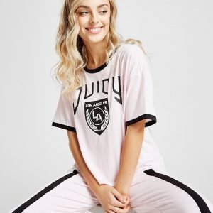Juicy By Juicy Couture Ringer T-Shirt Vaaleanpunainen