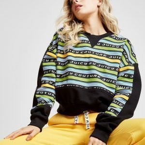 Juicy By Juicy Couture Stripe Crew Sweatshirt Musta