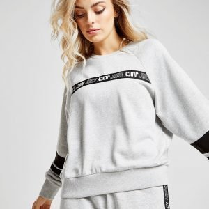 Juicy By Juicy Couture Tape Crew Sweatshirt Harmaa