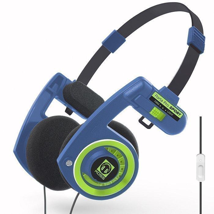 KOSS Porta Pro 3.0 On-ear Mic Sport Blue/Green