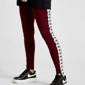 Kappa Banda Leggings Burgundy / White / Black