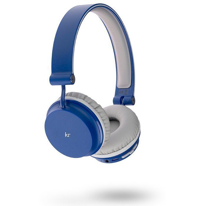 Kitsound Metro Wireless On-ear Mic Blue