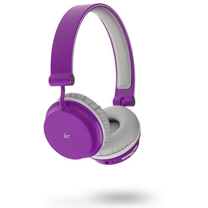 Kitsound Metro Wireless On-ear Mic Purple