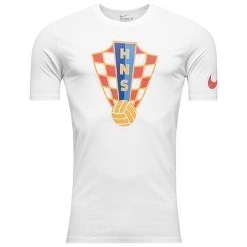 Kroatia T-Paita Crest Valkoinen