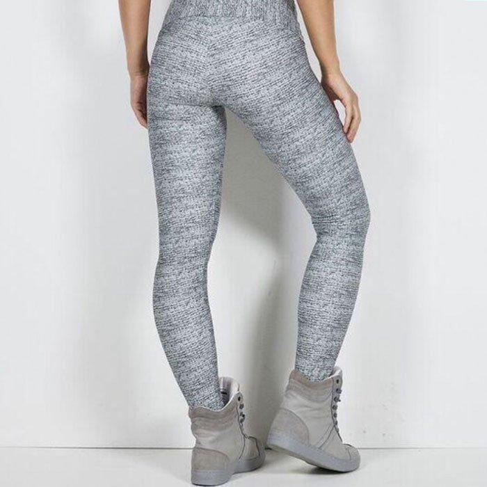 Labellla Mafia Knitting Print Legging Grey