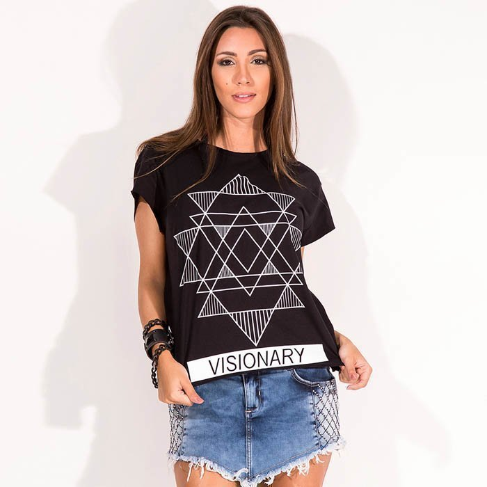 Labellla Mafia Top Visionary Tee Black S