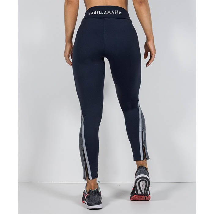 Labellla Mafia Triangle Bond In Compression Tights Grey