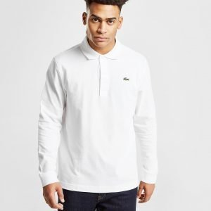 Lacoste Alligator Long Sleeve Poolopaita Valkoinen