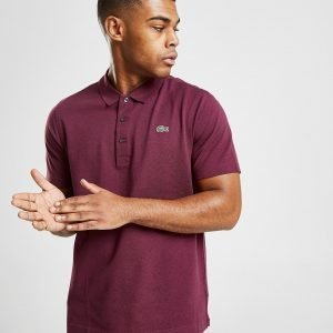 Lacoste Alligator Short Sleeve Polo Paita Burgundy