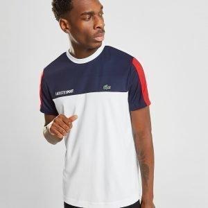 Lacoste Block Pique Short Sleeve T-Shirt Laivastonsininen
