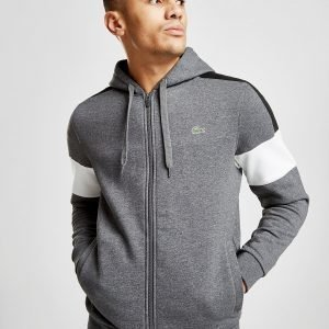Lacoste Colour Block Sleeve Zip Through Huppari Harmaa