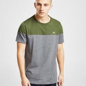 Lacoste Colour Block T-Paita Khaki / Grey