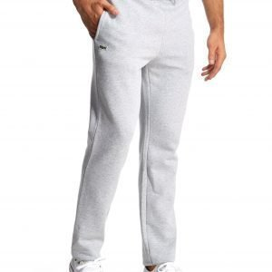 Lacoste Cuffed Fleece Track Pants Grey Marl / Argent