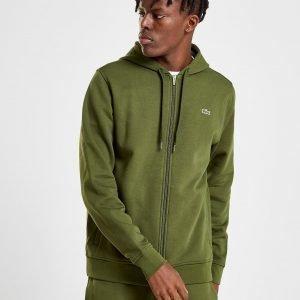 Lacoste Full Zip Fleece Hoodie Khaki