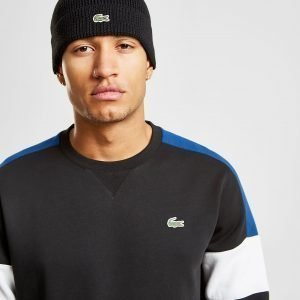 Lacoste Knitted Logo Beanie Musta