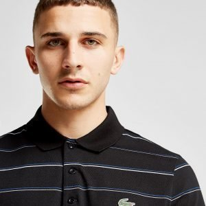 Lacoste Multi Stripe Polo Shirt Musta