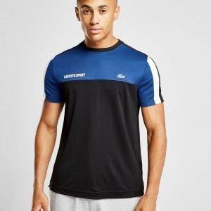 Lacoste Sport Poly Panel T-Shirt Sininen