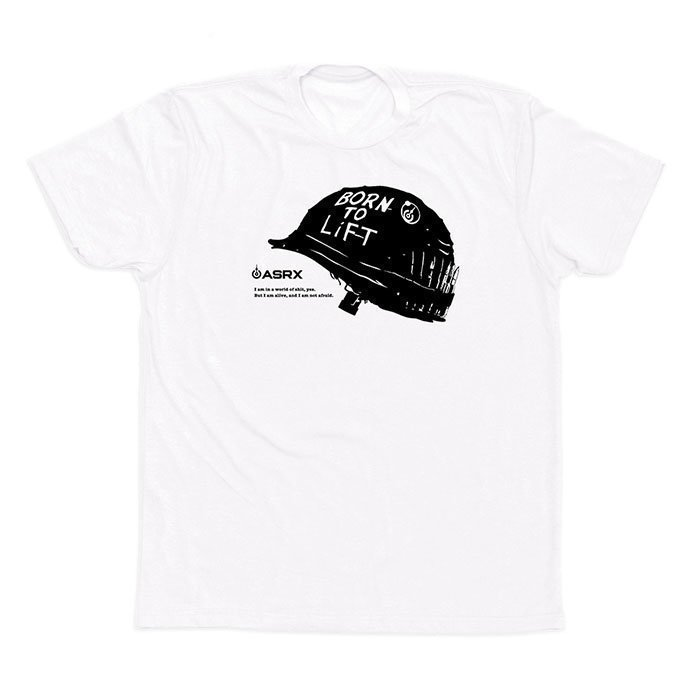 Life As RX Men's Iron Will Tee White