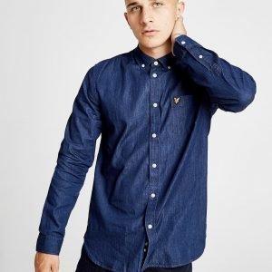 Lyle & Scott Long Sleeve Chamber Shirt Sininen