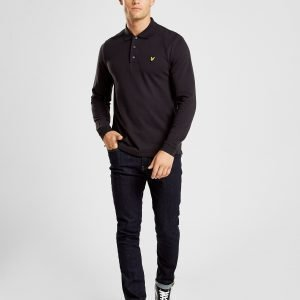 Lyle & Scott Long Sleeve Core Polo Paita Musta