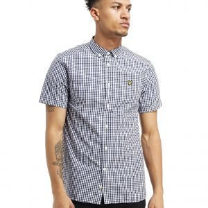 Lyle & Scott Short Sleeve Gingham Check Paita Laivastonsininen