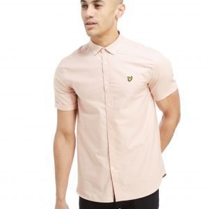 Lyle & Scott Short Sleeve Oxford Paita Vaaleanpunainen