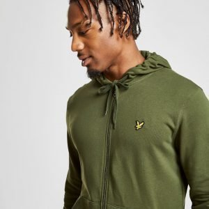 Lyle & Scott Zip Through Core Hoodie Vihreä