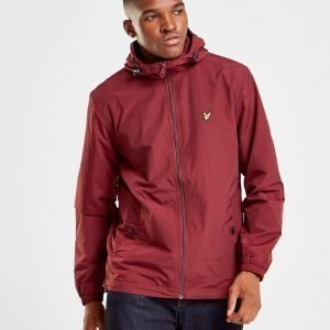 Lyle & Scott Zip Through Hooded Core Takki Punainen