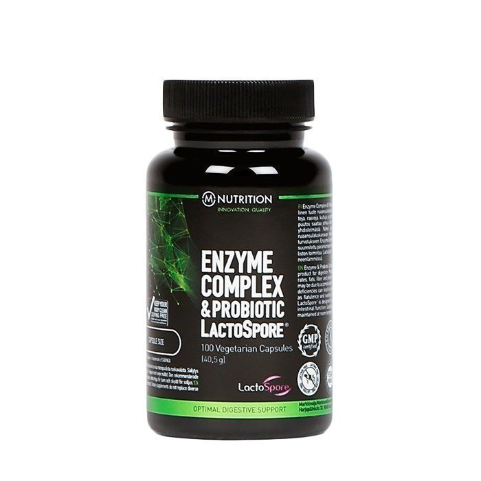 M-Nutrition Enzyme Complex and Probiotic Lactospore 100 caps