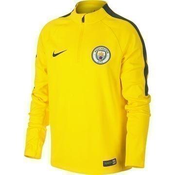 Manchester City Harjoituspaita Drill Top 1/4 Keltainen/Harmaa Lapset