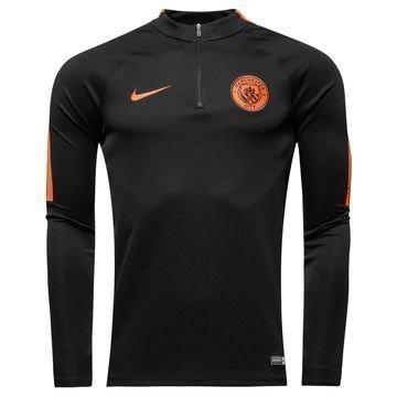 Manchester City Harjoituspaita Drill Top 1/4 Musta/Oranssi