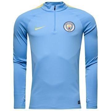 Manchester City Harjoituspaita Drill Top 1/4 Sininen/Keltainen