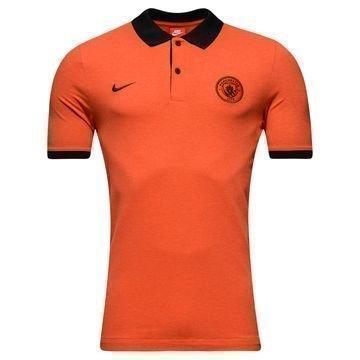Manchester City Pikee Oranssi/Musta
