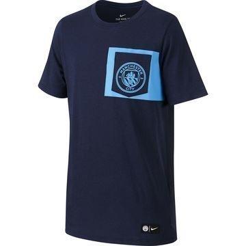 Manchester City T-paita Crest Navy Lapset