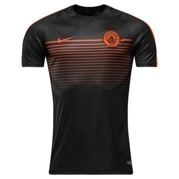 Manchester City Treenipaita Dry Top Squad Musta/Oranssi Lapset