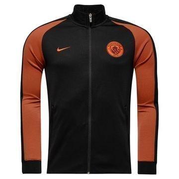 Manchester City Verryttelytakki Authentic N98 Musta/Oranssi