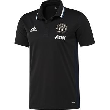Manchester United Pikee Musta/Valkoinen
