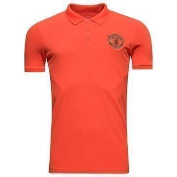 Manchester United Pikee Punainen/Harmaa