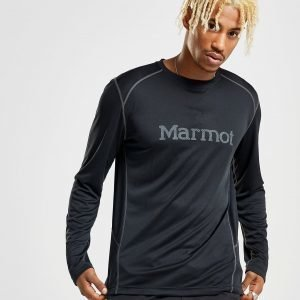 Marmot Windridge Long Sleeve Poly T-Shirt Musta