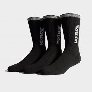 Mckenzie 3 Pack Sport Socks Musta