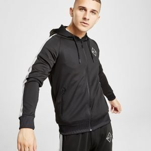 Mckenzie Culumus Poly Zip Through Hoodie Musta