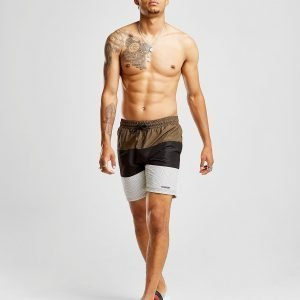 Mckenzie Dune Swim Shorts Khaki / Black / White
