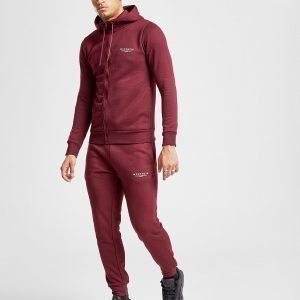 Mckenzie Essential Cuffed Track Pants Burgundy / White