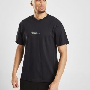 Mennace Triple Globe T-Shirt Musta