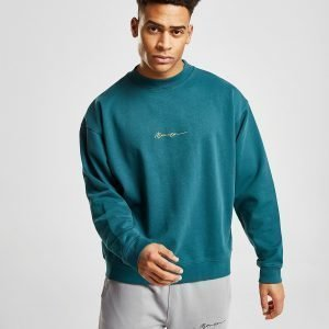 Mennace Washed Signature Paita Teal / Yellow