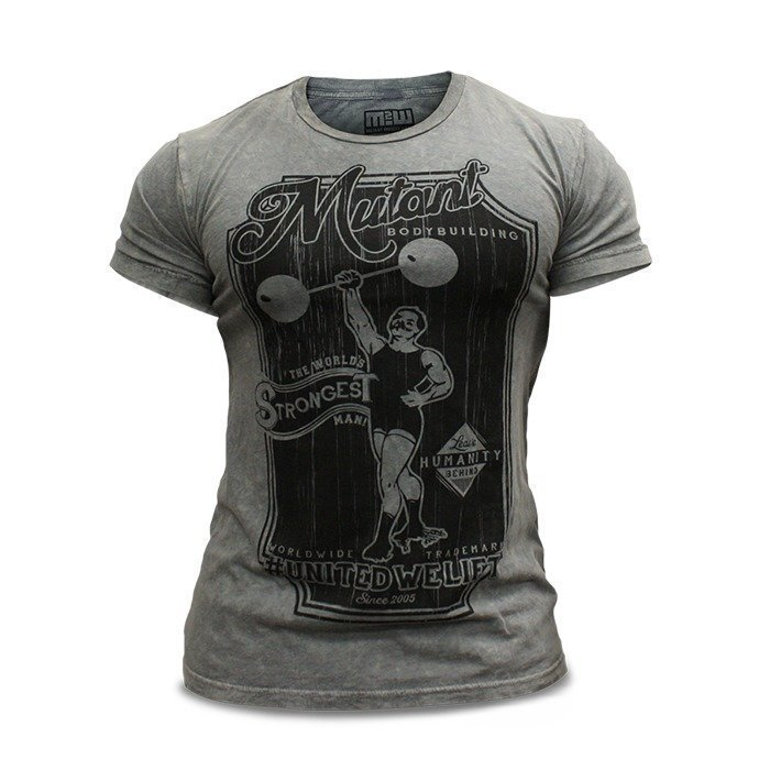 Mutant Vintage Bodybuilder T-Shirt (Grey) - Medium